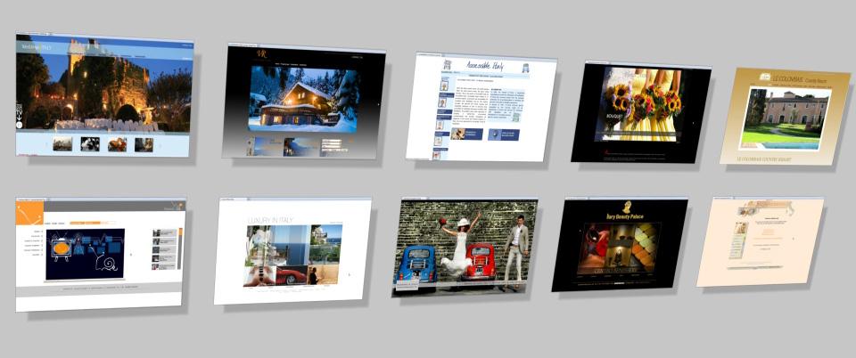 Top Esempi Portfolio Grafico:siti web turismo,matrimoni,professionisti  KR81